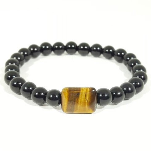 Power - Obsidian Bead Bracelet