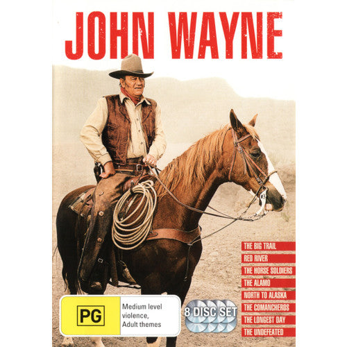 John Wayne Collection (Inc. The Big Trail / Red River / North to Alaska) (8 Movies 8 Discs)