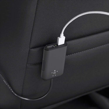 USB Car Charger with 4 Port Extension Hub
