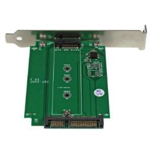 M.2 to SATA PCI slot mounted SSD adapter