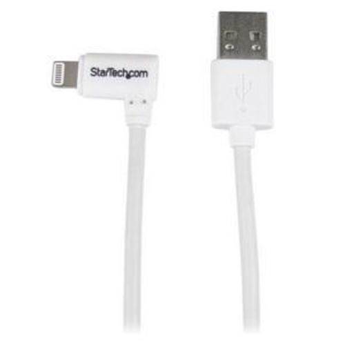 3ft Angled Lightning to USB Cable White