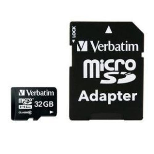 Verbatim Micro SDHC 32GB (Class 10) with