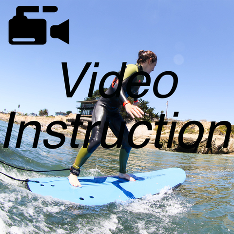 beginner surfer video instruction how to surf