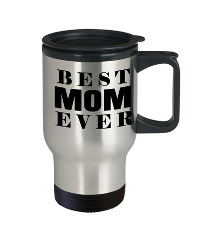 Best Mom Travel Mugs - Cheap Gift Ideas For Mom - Funny Gifts For Mom - Birthday Gift Mom - Mugs For Mom - Best Mom Ever - Travel Mug - YesECart