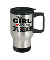 Civil Engineering Travel Mug - Civil  Engineer Mug - This Girl Loves Her Civil Engineer - Travel Mug - YesECart