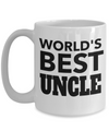 Best Uncle Gifts From Kids - Best Uncle 15oz Coffee Mug - Funny Uncle Gifts From Niece - Best Uncle Mug - I Love My Uncle Mug - Worlds Best Uncle - Coffee Mug - YesECart