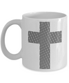 Christian Coffee Mugs-Christian Art Gifts-Christian Gifts For Men-Christian Gifts For Women-Christian Mugs-Christian Gifts-Gifts Christian- Jesus Cross Typography - Coffee Mug - YesECart