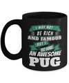 Black Pug Mug-Pug Dog Gifts-Black Pug Gifts-Pug  Dad - Coffee Mug - YesECart