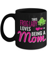 Frog Gifts-Frog Themed Gifts-Frog Mug-Mug Frog-Frog Mom-This Frog Lady Loves Being a Mom Black Mug - Coffee Mug - YesECart