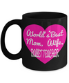 Funny Ballet Teacher Gifts - Ballet Teacher Mug - Worlds Best Mom Wife Ballet Teacher Black Mug - Coffee Mug - YesECart