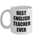 Yesecart-Best English Teacher Ever-Funny Teacher Gifts-Teacher Gifts Funny-funny English Teacher Gifts-teacher Mug-best Teacher Mug-English Teacher Mug-teacher Coffee Mug-teacher retirement gifts - Coffee Mug - YesECart