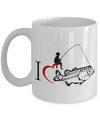 I Love Fishing-Fish Mug-Fishing Mug-Fly Fishing Mug-Fishing Coffee Mug-Funny Fishing Gifts-Fishing Gifts-Fishing Gag Gifts-Fishing Gift Ideas-Unique Fishing Gifts-Yesecart - Coffee Mug - YesECart