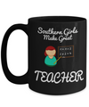 Best Teacher Mug - 15oz Teacher Coffee Mug - Teacher Gifts For Christmas - Funny Teacher Gift Ideas - Retirement Gifts For Teachers - Southern Girls Male Great Teacher - Coffee Mug - YesECart