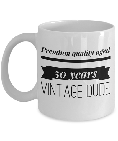 50 Birthday Funny Gifts For Men-Happy Birthday 50 Gag Gift For Husband - YesEcart - Coffee Mug - YesECart