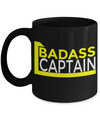 Captain Mug- Sailing Mug - Boating Mug- Sailing Gifts For Women-Captain Gifts For Women - Badass Captain - Coffee Mug - YesECart