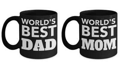 B-day Gifts For Mom - New Mom Coffee Mug - Awesome Mom Mug - Dad Daughter Mug - Gifts Dad - Dad Gift Ideas - 11 Oz Mom And Dad Matching Mugs - Coffee Mug - YesECart