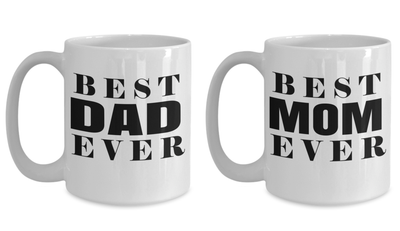 Best Dad Mug - Gifts For Dad - Papa Birthday Gifts - Mom Coffee Mug - Mom Birthday Gifts - Mommy Gifts For Women - 15 Oz Couple Coffee Mug - Coffee Mug - YesECart