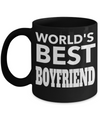 Boyfriend Gifts From Girlfriend Anniversary - Best Boyfriend Gifts For Birthday - Funny Boyfriend Mug - Worlds Best Boyfriend - Coffee Mug - YesECart