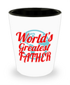 Fathers Day Gift- Unique Gifts For Dad - Best Dad Gifts - Gift Ideas For Dad -World's Greatest Father Shot Glass - Shot Glass - YesECart