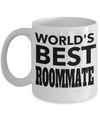 Birthday Gifts for Roommates - Best Roommate Gifts - Best Roommate Mug - Worlds Best Roommate White Mug - Coffee Mug - YesECart