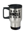 Best Uncle Gifts From Kids - Funny Uncle Gifts From Niece - Travel Uncle Mug - I Love My Uncle Mug - Best Uncle Ever - Travel Mug - YesECart