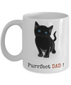Cat Dad Mug- Purrfect Dad- Cat Dad Coffee Mug - Cat Lover Gifts - Cat Gifts For Cat Lovers -gifts For Cat Lovers - Gifts Cat Lovers -Cat Lovers Gifts-gifts For The Cat Lover- Cat Gifts For People - Coffee Mug - YesECart
