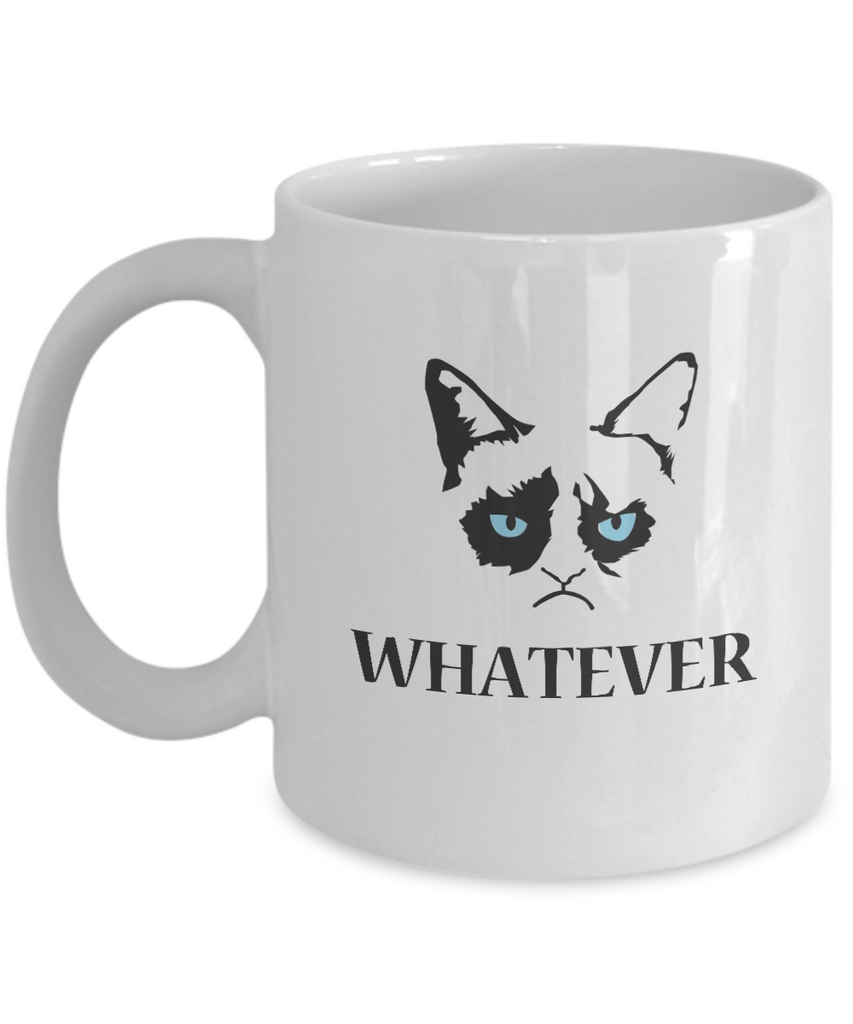 Grumpy Cat Mug - Grumpy Cat Gifts-Whatever - Coffee Mug - YesECart