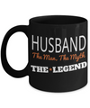 Husband Gifts From Wife - Anniversary Gifts For Husband - Birthday Gifts For Husband - Best Gift Ideas For Husband - Best Husband Coffee Mug - Husband The Man The Myth The Legend Black Mug - Coffee Mug - YesECart