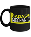 Auto Mechanic Gifts - Gifts For Mechanics - Gifts For A Mechanic - Mechanic Coffee Mug - Badass Mechanic Black Mug - Coffee Mug - YesECart