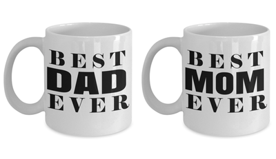 Beer Mug Dad - Hot Dad Mug  - Love My Mom Gifts - 11 Oz Birthday Gift For Dad - Gifts For Dad Coffee - Magical Mom Mug - I Love You Dad Mug - Coffee Mug - YesECart