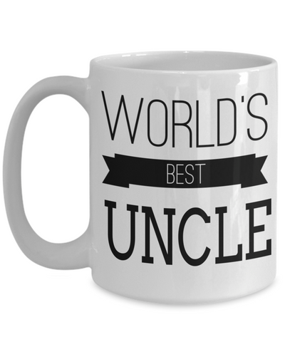 Best Uncle Gifts From Kids - Best Uncle 15oz Coffee Mug - Funny Uncle Gifts From Niece - Best Uncle Mug - I Love My Uncle Mug -Worlds Best Uncle - Coffee Mug - YesECart