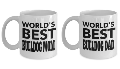 Bulldog Mom- Bulldog Gifts Owners - Bulldog Dad Ever Coffee Dad Mug - English Bulldog Mug - Bulldog Lady Dog Mom - English Bulldog Gift Coffee Mug - Coffee Mug - YesECart