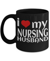 Best Nurse Gifts For Woman - Nurse Gifts - Funny Nurse Mug - I Love My Nursing Husband - Coffee Mug - YesECart