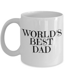 Gifts For Dad - Birthday Gifts For Dad- Dad Gifts From Daughter - Unique Gifts For Dad - Best Dad Mug-World's Best Dad - Coffee Mug - YesECart