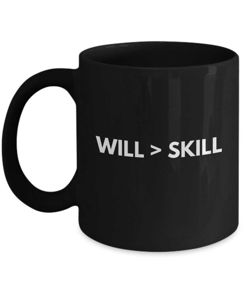 Positive - Will Is Greater (Black) - Coffee Mug - YesECart