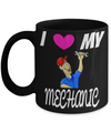Auto Mechanic Gifts - Gifts For Mechanics - Gifts For A Mechanic - Mechanic Coffee Mug - I Love Mechanic Black Mug - Coffee Mug - YesECart