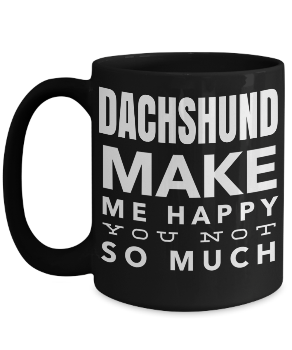funny christmas gifts for dachshund dad mom gifts idea 15 oz black cup dachshund