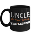 Best Uncle Gifts From Kids - Funny Uncle Gifts From Niece - Best Uncle Mug - I Love My Uncle Mug - Uncle The Man The Myth The Legend Black Mug - Coffee Mug - YesECart