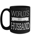 Husband Gifts From Wife - Anniversary Gifts For Husband - Birthday Gifts For Husband - 15 oz Husband Coffe Mug - Best Gift Ideas For Husband - Worlds Best Husband - Coffee Mug - YesECart