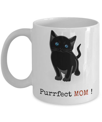 Crazy Cat Lady Mug -Purrfect Mom-Cat Mom Mug-Crazy Cat Lady Coffee Mug-Crazy Cat Lady Gifts-Cat Lover Gifts-Funny Cat Gifts-Ccat Lady Gifts-Gifts For Cat Lovers-Funny cat gifts - Coffee Mug - YesECart