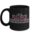 Funny Police Officer Gifts - Police Academy Graduation Gifts - Retired Police Officer Gifts - Police Mug - I am a Cop To Save Time Lets Just Assume I am Never Wrong Black Mug - Coffee Mug - YesECart