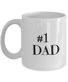 Gifts For Dad - Birthday Gifts For Dad- Dad Gifts From Daughter - Unique Gifts For Dad - Best Dad Mug-Number One Dad Mug - Coffee Mug - YesECart