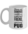 Black Pug Mug-Pug Dog Gifts-Black Pug Gifts-Pug Mom-Whoever Said Diamonds are a Girls Best Friend Never Owned Pug White Mug - Coffee Mug - YesECart