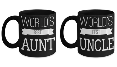 Birthday Gift Aunt - Birthday Aunt Gifts - Greatest Aunt Mug - Uncle To Be Gifts - Worlds Greatest Uncle Mug - Best Aunt Uncle Mug - 11oz Coffee Mug - Coffee Mug - YesECart