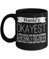 Funny Aerospace Engineering Gifts - Aerospace  Engineer Mug - Worlds Okayest Aerospace Engineer - Coffee Mug - YesECart