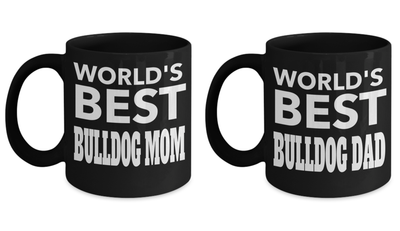 Bulldog Dad Mug - Best Bulldog Dad - Bulldog Dad Ever - Bulldog Mom Mugs - Bulldog Gifts - Crazy Bulldog Lady Dog Mom - Bulldog Dad Ever Dog Puppy - Coffee Mug - YesECart