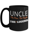 Best Uncle Gifts From Kids - Best Uncle 15oz Coffee Mug - Funny Uncle Gifts From Niece - Best Uncle Mug - I Love My Uncle Mug - Uncle The Man The Myth The Legend - Coffee Mug - YesECart