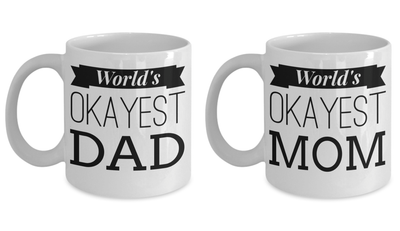 11 Oz Mom Dad Anniversary Gift Idea - Coffee Mug Dad - Best Dad Mugs - Cool Dad Gifts - I Love Mom Mug - Super Mom Gifts - Coffee Mug - YesECart