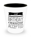Shot Glasses Birthday Girl- 21 St Birthday Gifts Idea- 21 Birthday Gifts For Her - Shot Glass - YesECart