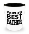 Fathers Day Gift- Unique Gifts For Dad - Best Dad Gifts - Gift Ideas For Dad -World's Best Father Shot Glass - Shot Glass - YesECart